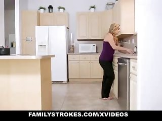 FamilyStrokes - Loving Step-Sister And Mother Tricked And Romped By StepBro