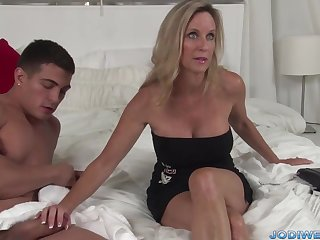 Polemical Taut Mommy Smooches Her Junior Trainer With Humungous Man Sausage